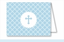 Blue Cross Diamond Pattern Note Cards