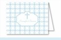 Blue Cross Tile Pattern Note Cards