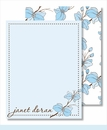 Blue Dogwood Small Flat Cards