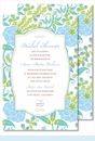 Blue/Green Garden Large Flat Invitation