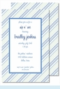 Blue/Green Ruffles Large Flat Invitation