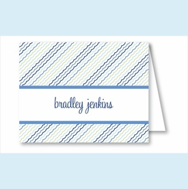 Blue/Green Ruffles Note Cards - click to enlarge