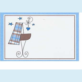 Blue Plaid Baby Tags - click to enlarge