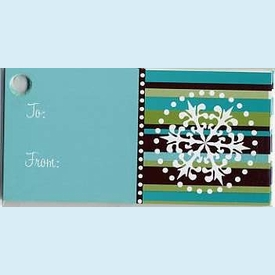 Blue Snowflake Gift Tags - click to enlarge