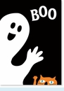 Boo Ghost & Meow Cat Card
