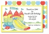 Bounce House/Slide Large Flat Invitation