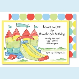 Bounce House/Slide Large Flat Invitation - click to enlarge