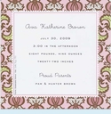 Bramble Pink Small Square Invitation