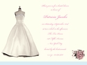 Bridal Dress & Bouquet Invitation