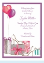 Bridal Shoes and Balloons Invitation