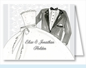 Bride and Groom Note Cards