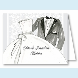 Bride and Groom Note Cards - click to enlarge