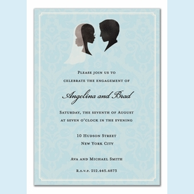 Bride and Groom Silhouette Invitation - click to enlarge