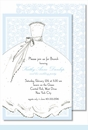 Bride Blue Large Flat Invitation