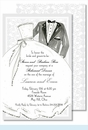 Bride & Groom Large Flat Invitation