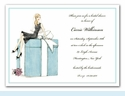 Bride on Box Invitation - Blonde