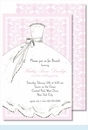 Bride Pink Large Flat Invitation