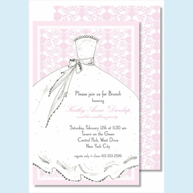 Bride Pink Large Flat Invitation - click to enlarge