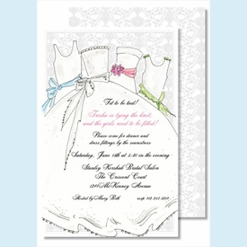 Bridesmaids Large Flat Invitation - click to enlarge