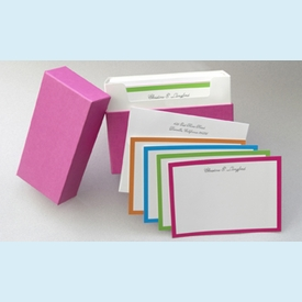 Bright Borders Personalized Notes (40 cards) - click to enlarge