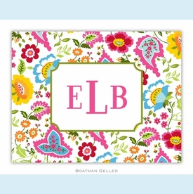 Bright Floral Folded Notes (set/25) - click to enlarge