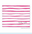 Brush Stripe Raspberry Folded Notes (set/25)