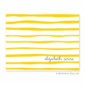 Brush Stripe Yellow Folded Notes (set/25) - click to enlarge