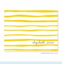 Brush Stripe Yellow Folded Notes (set/25)