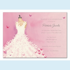 Butterfly Dress Invitation - click to enlarge