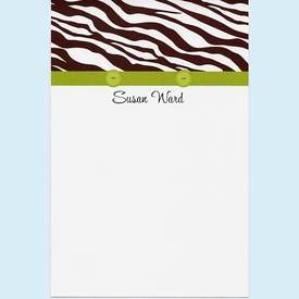 Buttoned Up Zebra Brown Invitation - click to enlarge