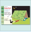 Camp Out Tent Party Invitation
