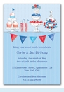 Candy Buffet Blue Invitation