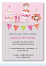 Candy Buffet Pink Invitation