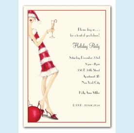 Candy Cane Girl Invitation - click to enlarge