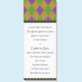 Carnevale Harlequin Invitation - click to enlarge
