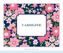 Caroline Floral Pink Folded Notes (set/25)
