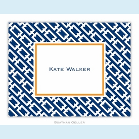Chain Link Navy Folded Notes (set/25) - click to enlarge