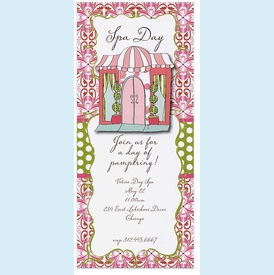 Chic Boutique Store Front Invitation - click to enlarge