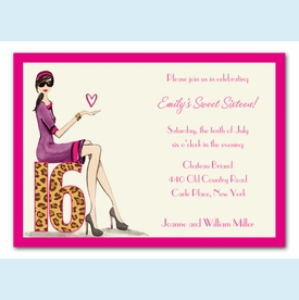 Chic Sixteen Invitation - click to enlarge
