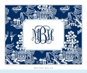 Chinoiserie Navy Folded Notes (set/25)