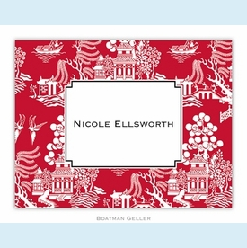 Chinoiserie Red Folded Notes (set/25) - click to enlarge