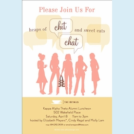 Chit Chat & Sweet Eats Invitation - click to enlarge