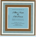 Chocolate and Aqua Square Frame Invitation (set/50)
