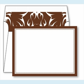 Chocolate Border Small Flat Cards w/Coordinating Liner - click to enlarge