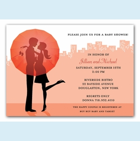 City Expecting Couple Invitation - click to enlarge