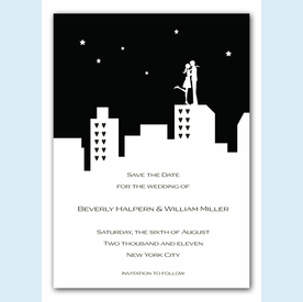 City Silhouette Invitation - click to enlarge