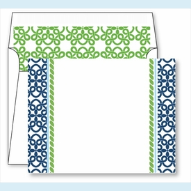 Clover Border Small Flat Cards w/Coordinating Liner - click to enlarge