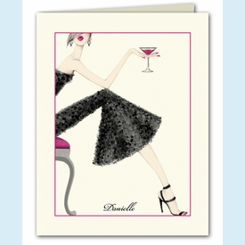 Cocktail Girl Thank You Notes - click to enlarge