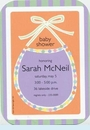 Colorful Bib Invitation
