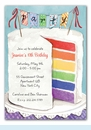 Colorful Cake Invitation